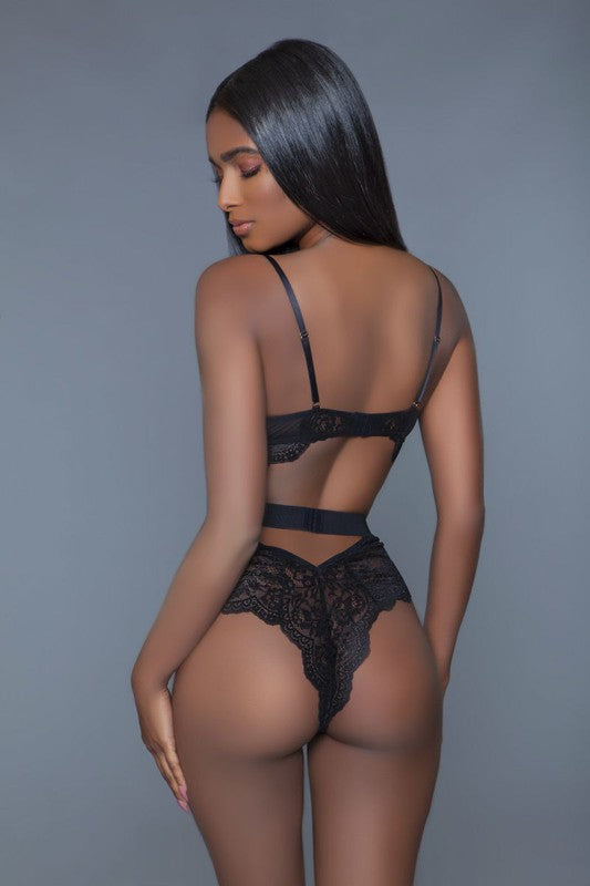 Ebony Lace Teddy