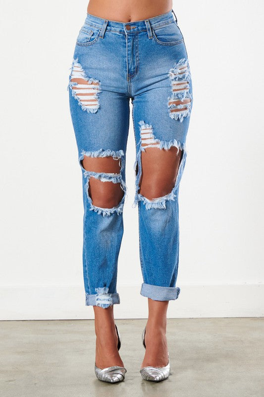 Tosh Distressed Mom Jeans
