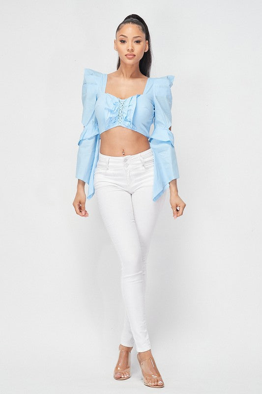 Lila Flare Top