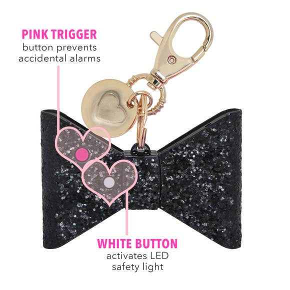 Glitter Bow Personal Alarm