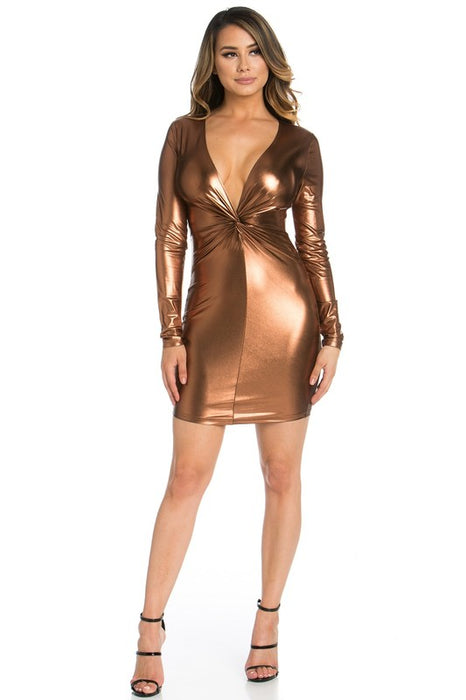 Lolo Foiled Dress
