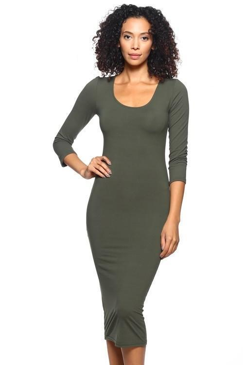 Jaya Mid Sleeve Dress