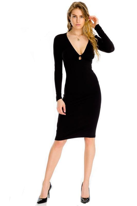 Jaya Fit Peep Dress