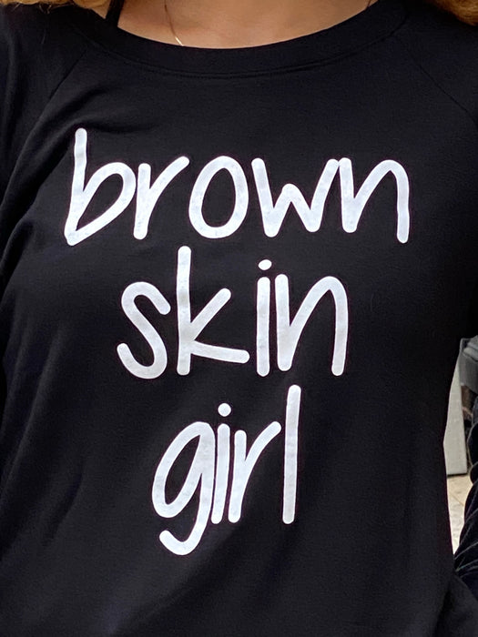 Brown Skin Lightweight Top