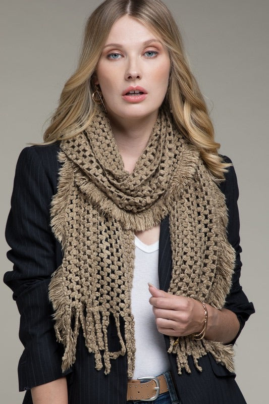 Loose Knit Scarf