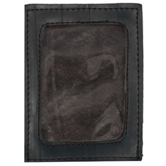 Bike tube card wallet with black stiching