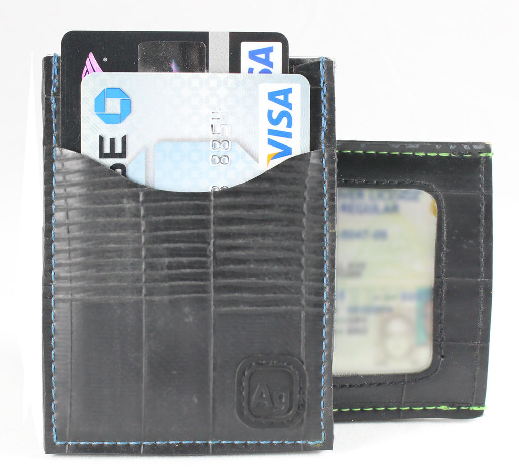 Bike tube wallet made of recycled bicycle tubes