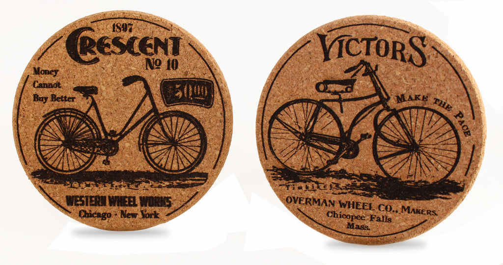 Bicycle themed drink coasters for your cocktail or beer