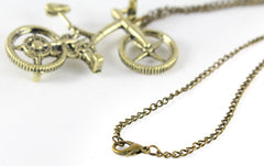 Metal bike necklace with lobster clasp