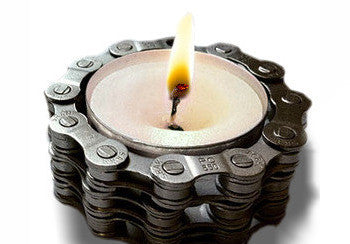 Upcycled Bike Chain Tealight Holder