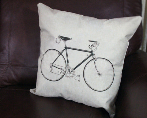 Pillow Cover: Classic 10-Speed Bike