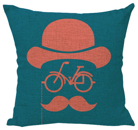 Pillow Cover: Handlebar Mustache