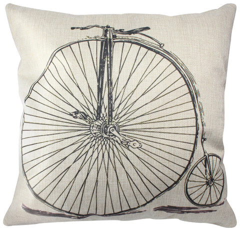 Pillow Cover: Penny-Farthing