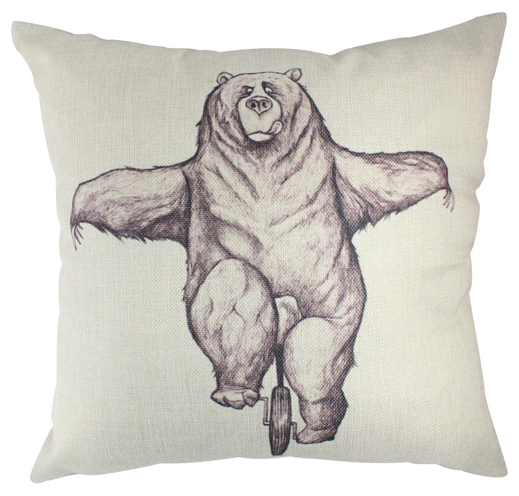 Pillow - Bear on unicycle