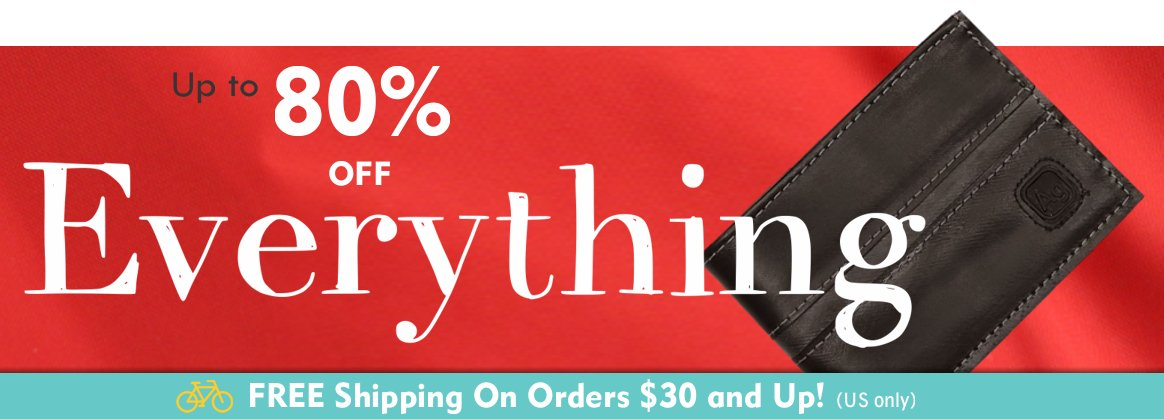 Up to 80% Off Everything