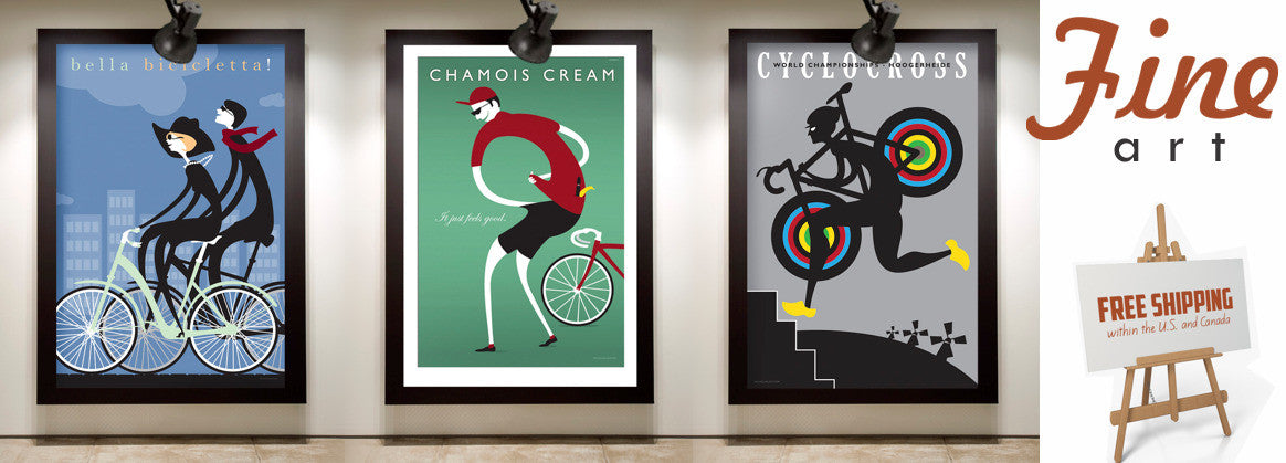 View the fine art collection with bicycle art, posters and prints, and free shipping on orders $20 and up!