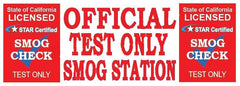 Official Test Only | Star Certified Red Shield | Vinyl Banner