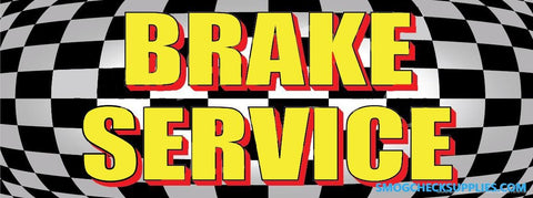 Brake Service | Checkered | Vinyl Banner