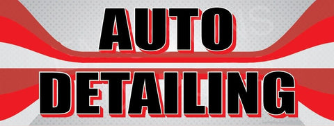 Auto Detailing | Red and Gray Lines | Vinyl Banner