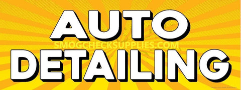 Auto Detailing | Yellow Orange Sunburst | Vinyl Banner