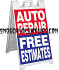 A-Frame Sidewalk Sign, AUTO REPAIR FREE ESTIMATE