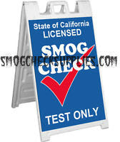 A-Frame Sidewalk Sign, Smog Check Test Only