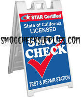A-Frame Sidewalk Sign, Star Certified Test & Repair