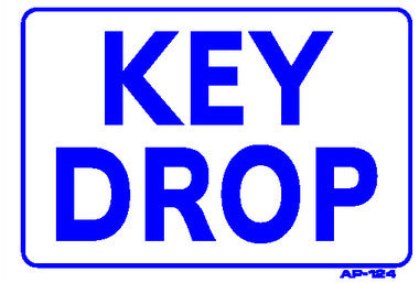 KEY DROP SIGN, AP-124