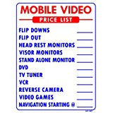 MOBILE VIDEO PRICE LIST SIGN, AP-137