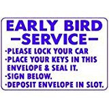 EARLY BIRD SERVICE SIGN, AP-41