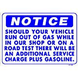 SHOULD YOUR CAR RUN OUT OF GAS SIGN, AP-59