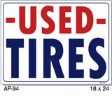 Used Tires Sign, AP-94