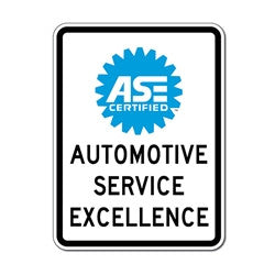 ASE CERTIFIED MECHANICS SIGN, ASE-1