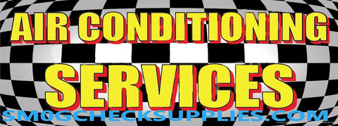 Air Conditioning Services | Checkered | Vinyl Banner