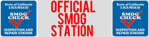 OFFICIAL SMOG STATION BANNER, 3' X 10'
