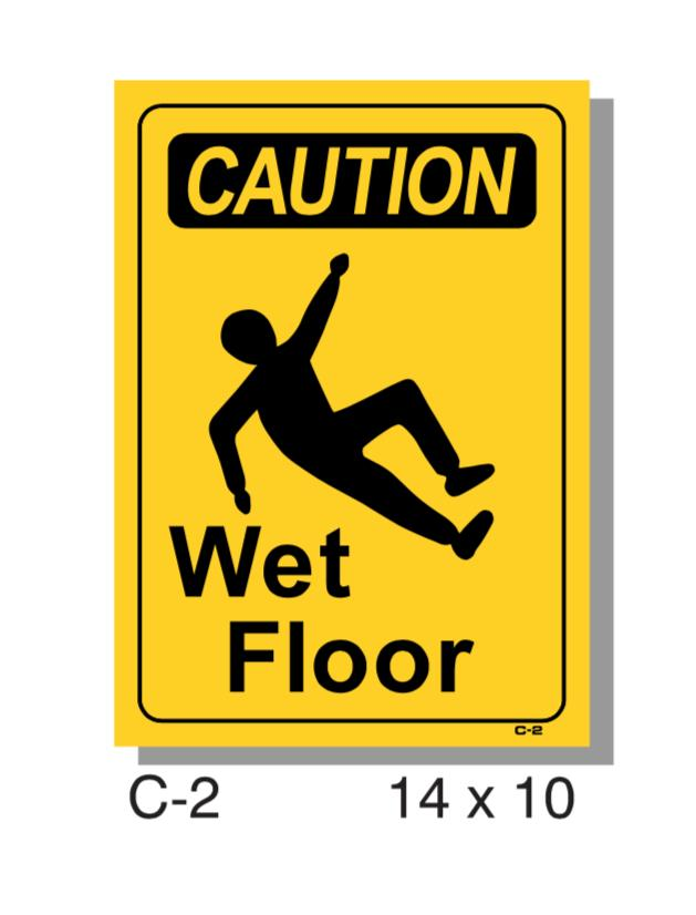 CAUTION SIGN, WET FLOOR