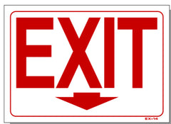 Exit (Arrow Down) Sign, EX14