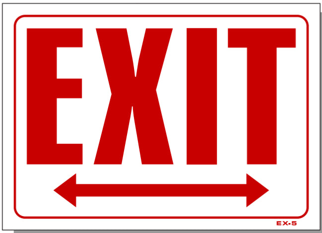 Exit (Double Arrow) Sign, EX5
