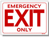 Emergency Exit Only Sign, EX8