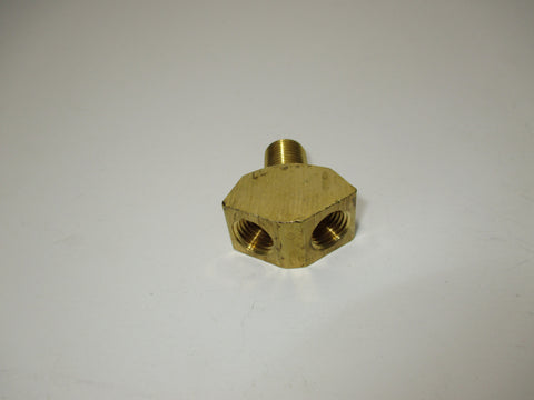 "Y FITTING, BRASS, 1/4"" X 1/4"""