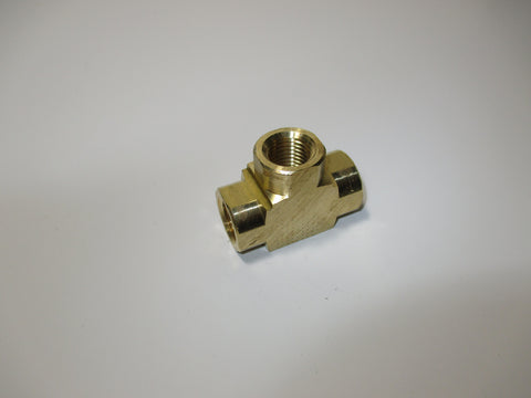 Extruded Female Tee, Brass, 1/4 Inch, P.N. FT04