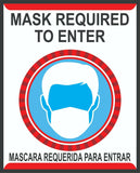MASK REQUIRED TO ENTER SIGN STICKERS