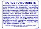 PAPERLESS CERTIFICATE SIGN, NOTICE TO MOTORISTS SMOG-6