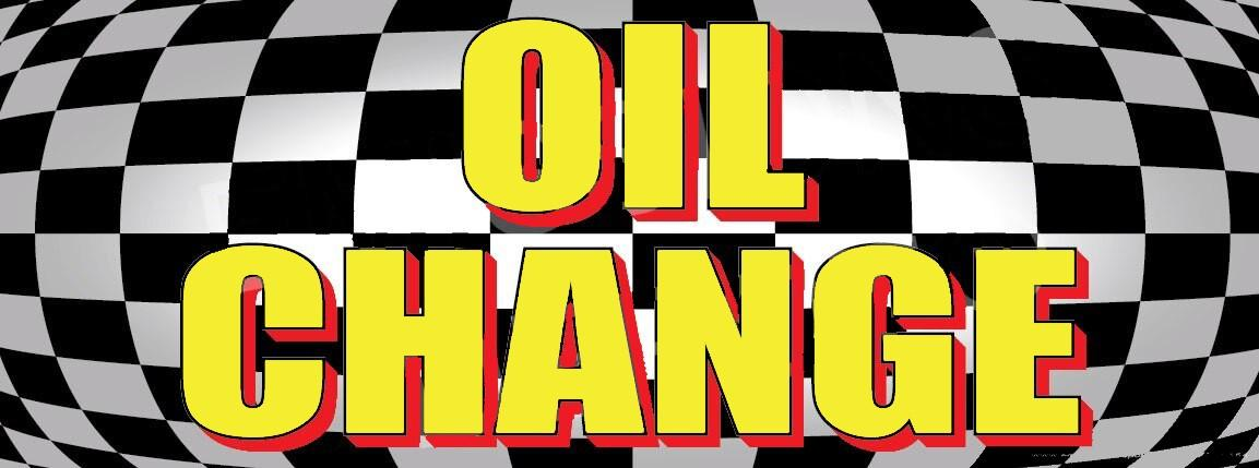 Oil Change | Checkered | Vinyl Banner