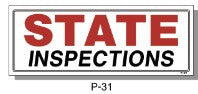 STATE INSPECTIONS SIGN