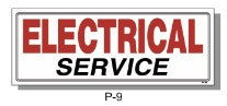 ELECTRICAL SERVICE SIGN, P-9