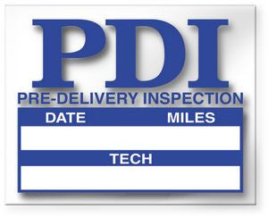 Pre Delivery Inspection Static Cling Stickers (100 pack)