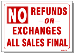 No Refunds or Exchanges-All Sales Final, RS76