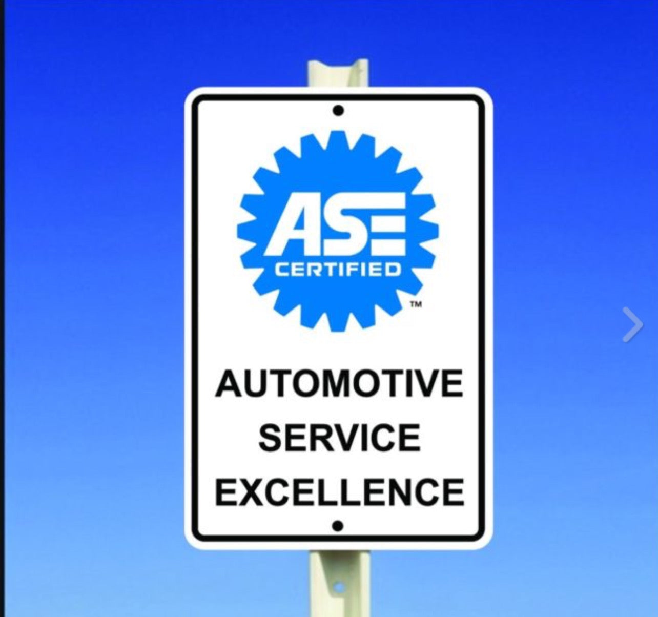 Automotive Service Excellence Sign ASE Sign