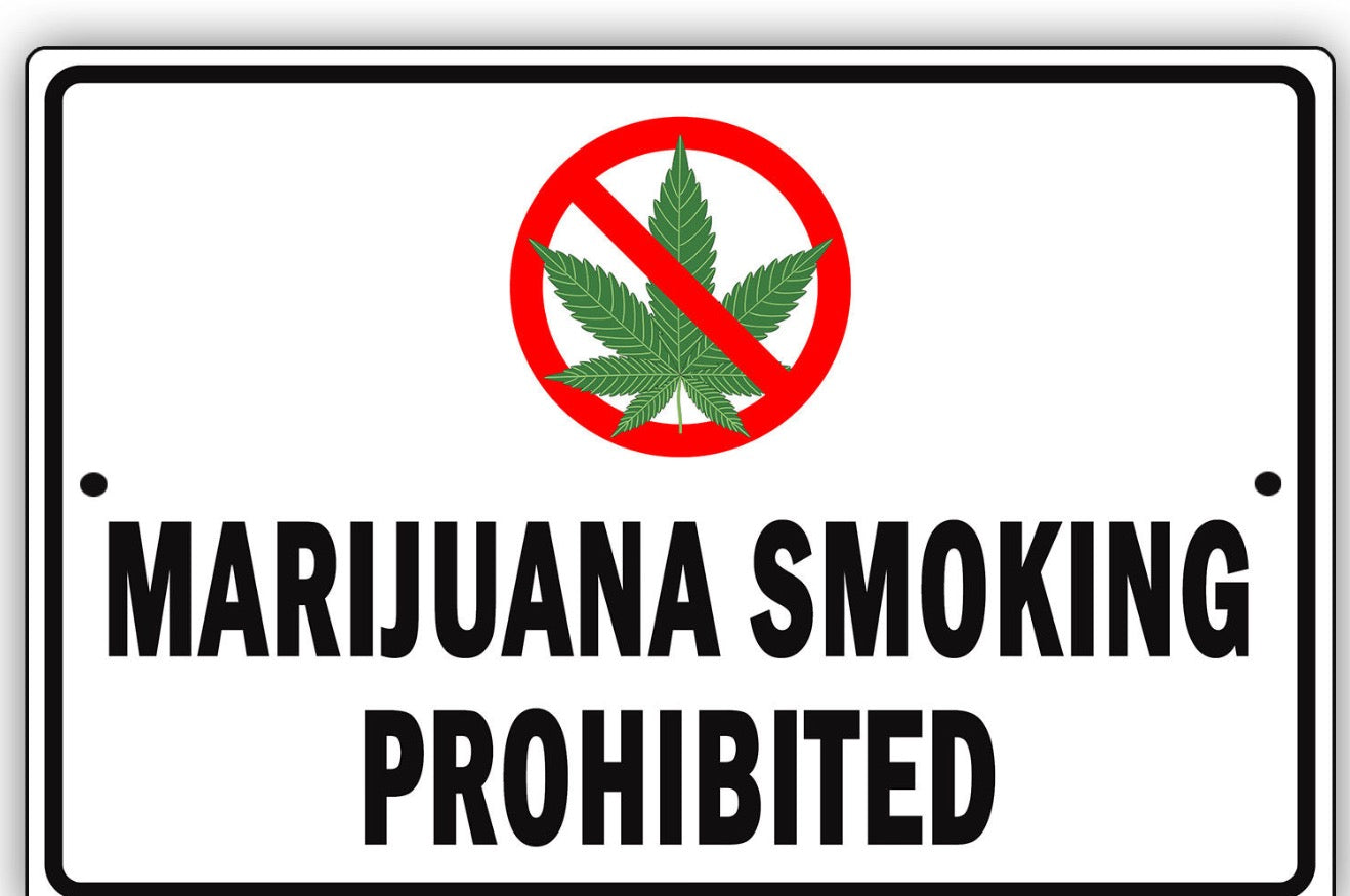 Marijuana Smoking Prohibited Warning Sign, 420 Signs